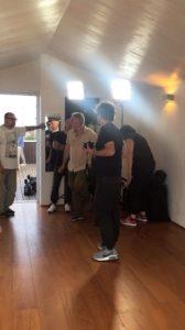 Durante le riprese